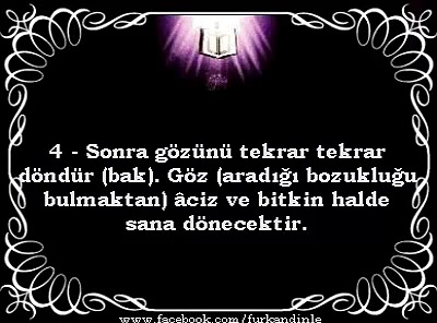 MÜLK SURESİ  TEBAREKE TürkçeMealli